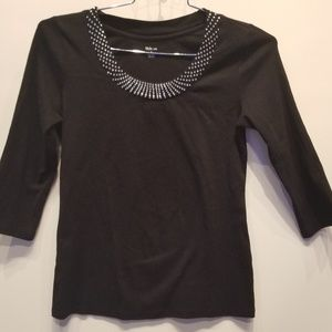 Style & Co. Crystal Stud Top